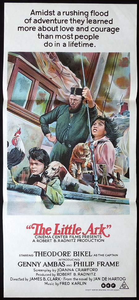 THE LITTLE ARK Original Daybill Movie Poster Theodore Bikel Geneviève Ambas Philip Frame