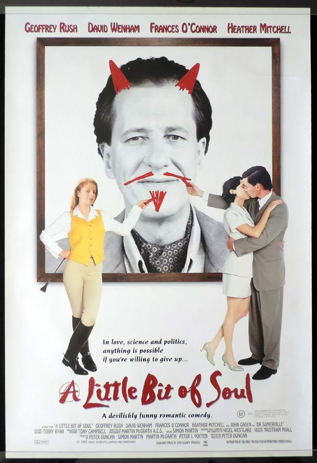 A LITTLE BIT OF SOUL Rolled Australian One sheet Movie poster Geoffrey Rush