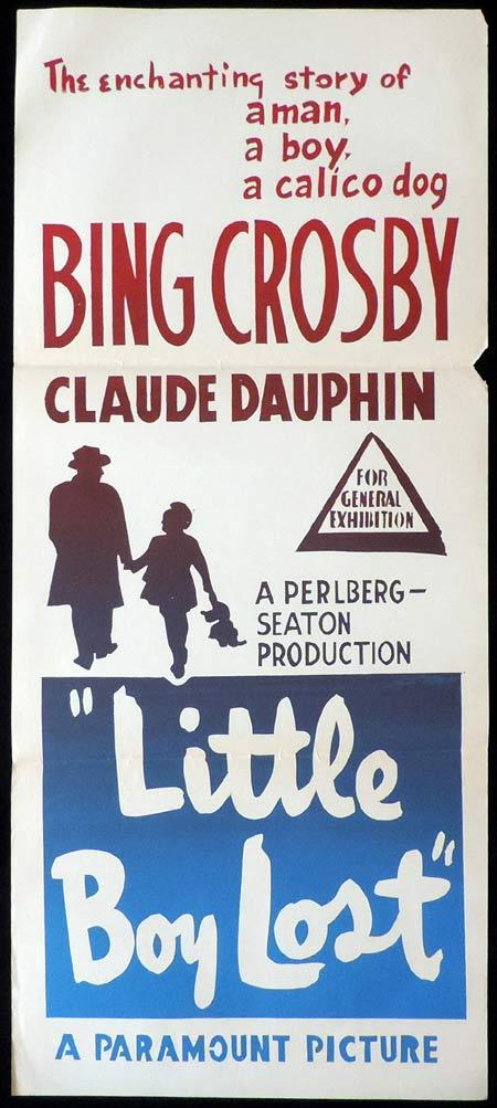 LITTLE BOY LOST Original Daybill Movie Poster Bing Crosby