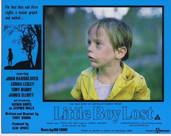 LITTLE BOY LOST 1978 Australian Film Classic Rare Lobby Card 1