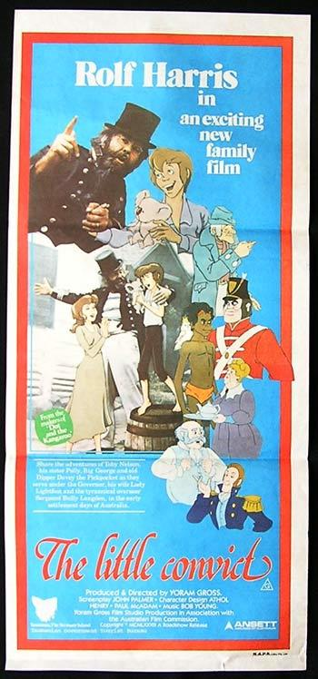THE LITTLE CONVICT Original daybill Movie Poster Rolf Harris