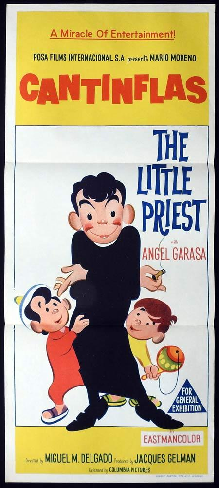 THE LITTLE PRIEST Original daybill Movie Poster Cantinflas Ángel Garasa Rosa María Vázquez