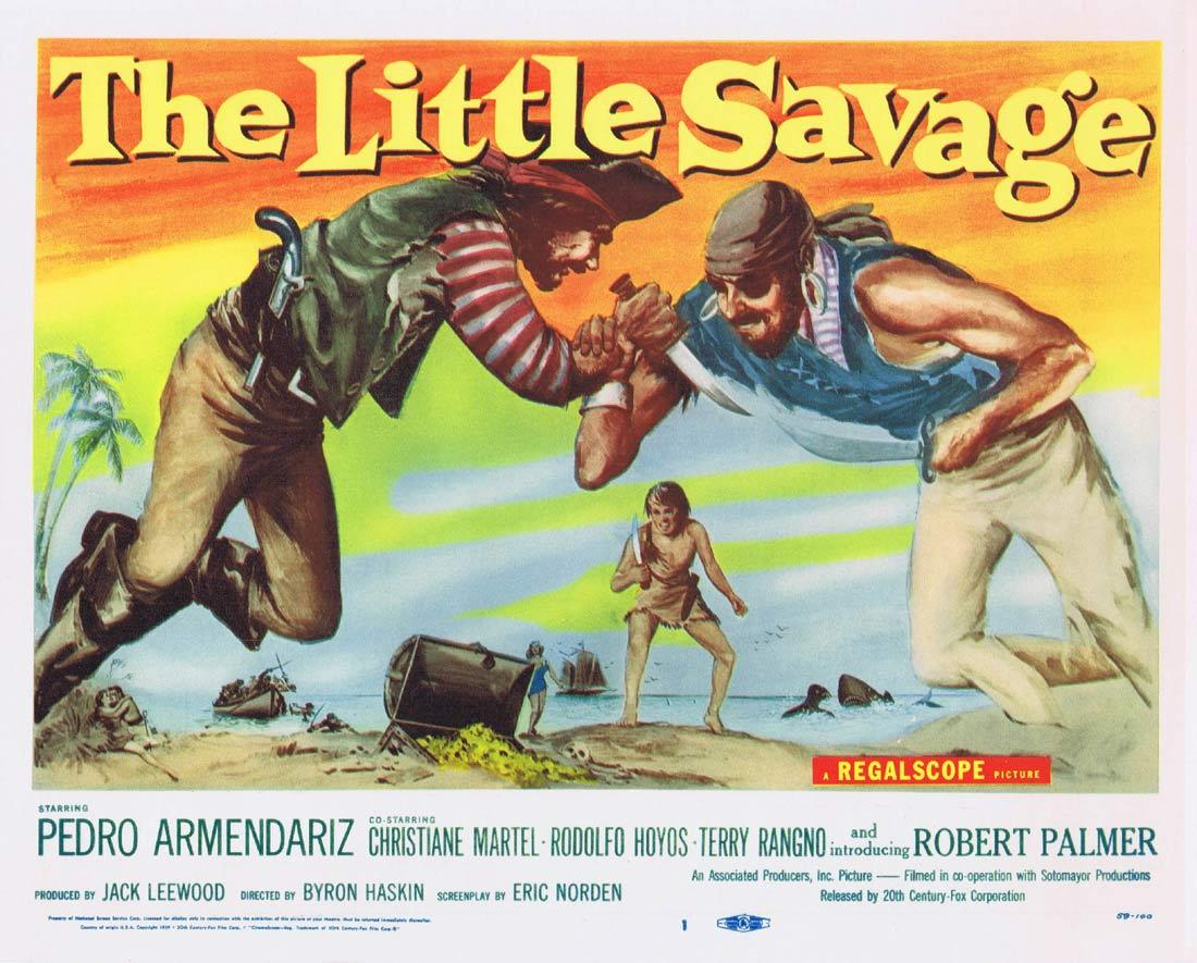 THE LITTLE SAVAGE Title Lobby Card Pedro Armendáriz Christiane Martel