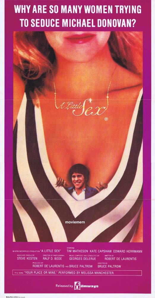 A LITTLE SEX Original Daybill Movie poster TIM MATHESON Kate Capshaw