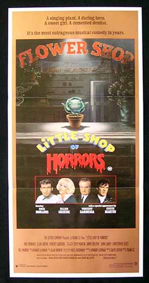 LITTLE SHOP OF HORRORS Original daybill Movie Poster Steve Martin Rick Moranis