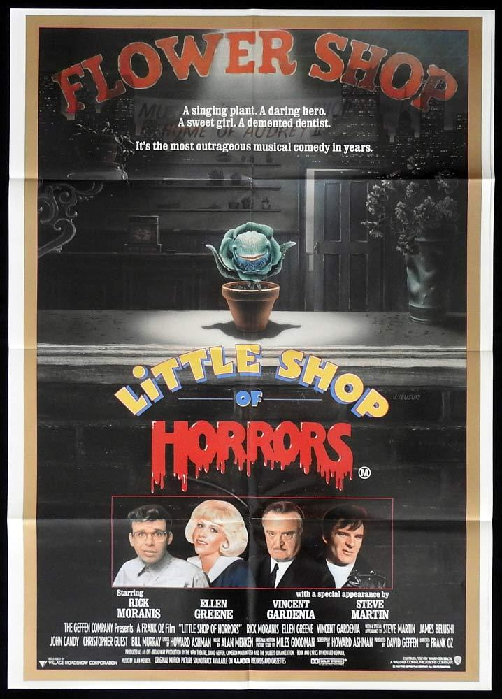 LITTLE SHOP OF HORRORS One sheet Movie Poster Rick Moranis Frank Oz
