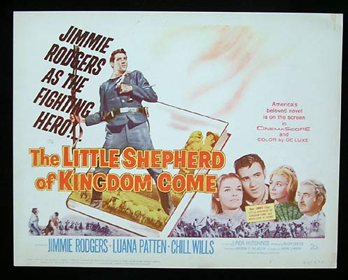LITTLE SHEPHERD OF KINGDOM COME 1960 Jimmie Rodgers Title Lobby Card