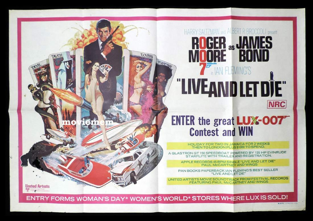 LIVE AND LET DIE Special Australian One sheet Movie Poster James Bond