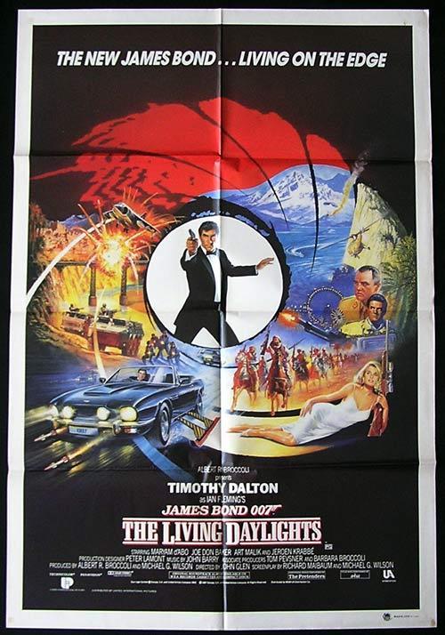 LIVING DAYLIGHTS, The '87-James Bond RARE AUSTRALIAN 1 sht poster A