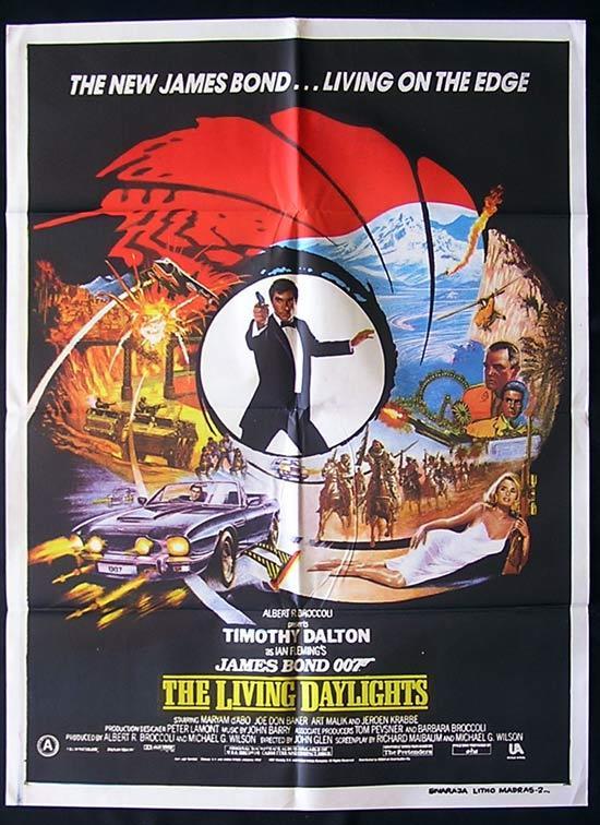 LIVING DAYLIGHTS, The '87-James Bond RARE 1 sht poster