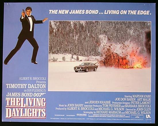 LIVING DAYLIGHTS, The '87-James Bond RARE British Lobby Card #1