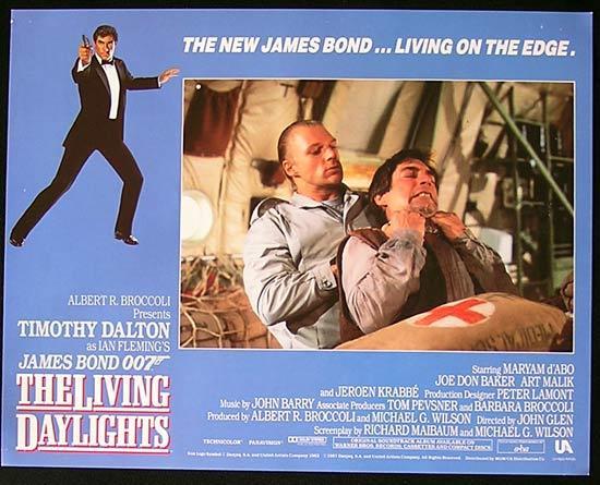 LIVING DAYLIGHTS, The '87-James Bond RARE British Lobby Card #3