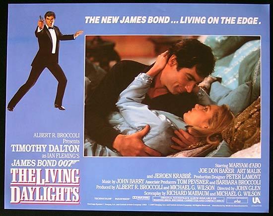 LIVING DAYLIGHTS, The '87-James Bond RARE British Lobby Card #4
