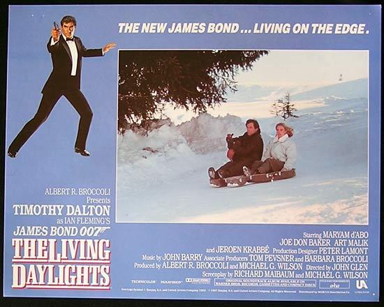 LIVING DAYLIGHTS, The '87-James Bond RARE British Lobby Card #5