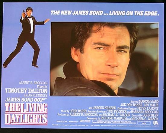 LIVING DAYLIGHTS, The '87-James Bond RARE British Lobby Card #6