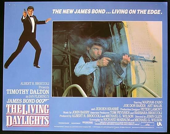 LIVING DAYLIGHTS, The '87-James Bond RARE British Lobby Card #7