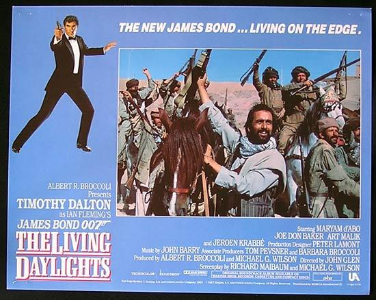 LIVING DAYLIGHTS, The '87-James Bond RARE British Lobby Card #8