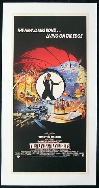 LIVING DAYLIGHTS, The '87-James Bond RARE Linen Backed poster
