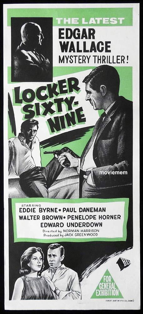 LOCKER SIXTY NINE Original Daybill Movie Poster Paul Daneman John LeMesurier