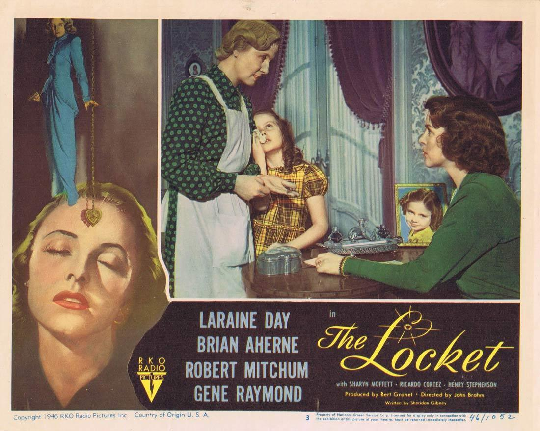 THE LOCKET Lobby Card 3 Laraine Day Brian Aherne Robert Mitchum