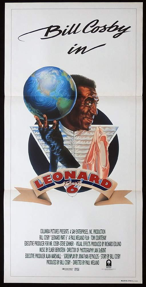 LEONARD PART 6 Original Daybill Movie poster Bill Cosby Tom Courtenay Moses Gunn