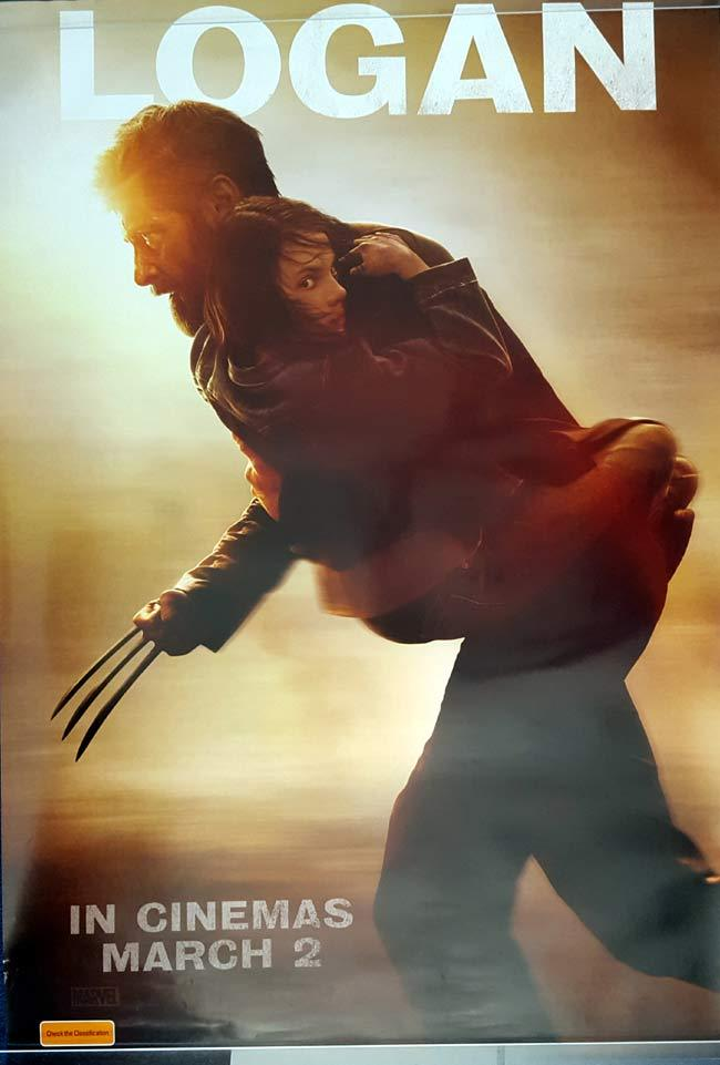 LOGAN Original Rolled One sheet Movie Poster Hugh Jackman Wolverine
