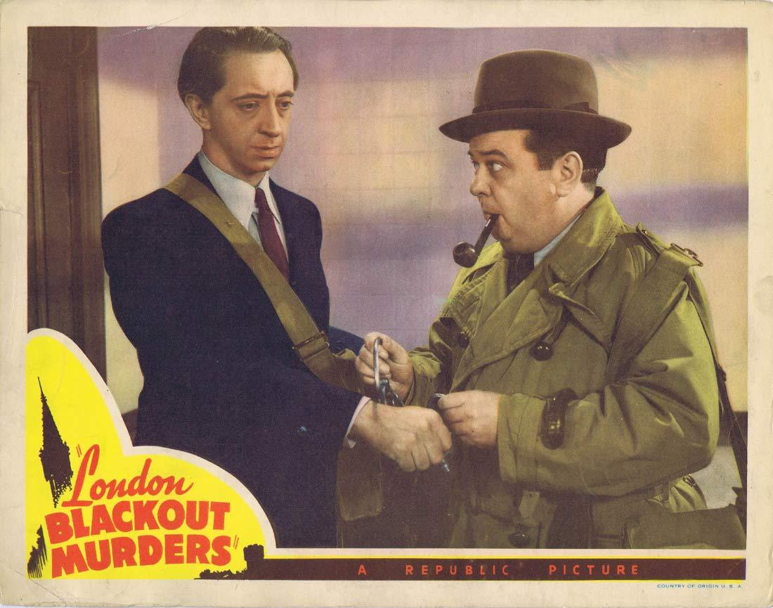 LONDON BLACKOUT MURDERS Original Lobby Card 2 John Abbott Mary McLeod Lloyd Corrigan 1943