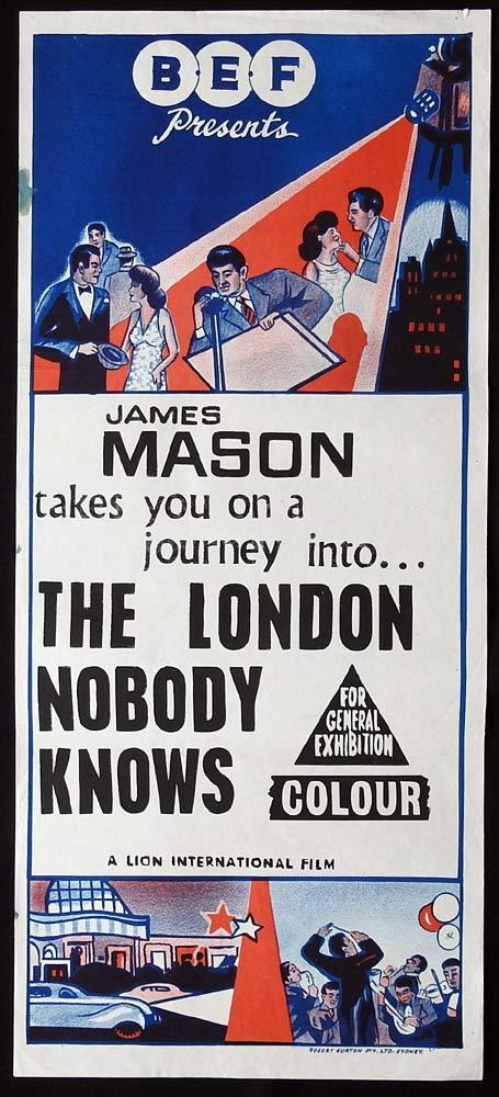 THE LONDON NOBODY KNOWS Original BEF  Daybill Movie Poster  James Mason
