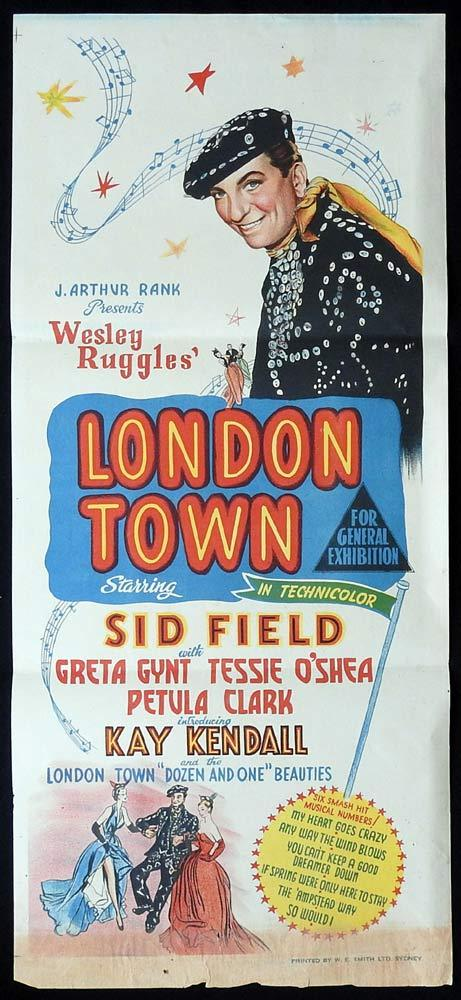 LONDON TOWN Original Daybill Movie poster Sid Field Petula Clark