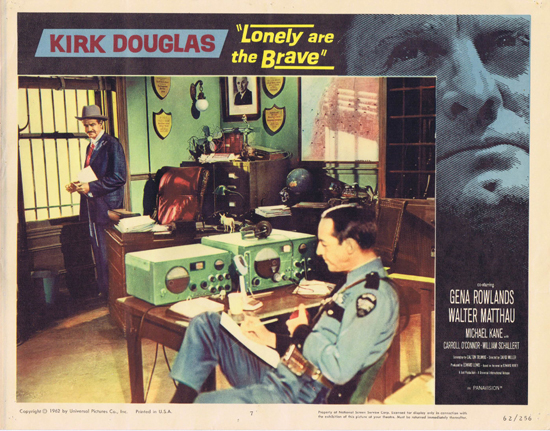 LONELY ARE THE BRAVE 1962 Kirk Douglas US Lobby Card 7