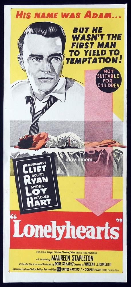 LONELYHEARTS Original Daybill Movie Poster Montgomery Clift Robert Ryan