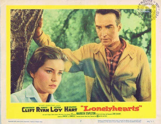 LONELYHEARTS 1959 Lobby Card 7 Montgomery Clift Dolores Hart