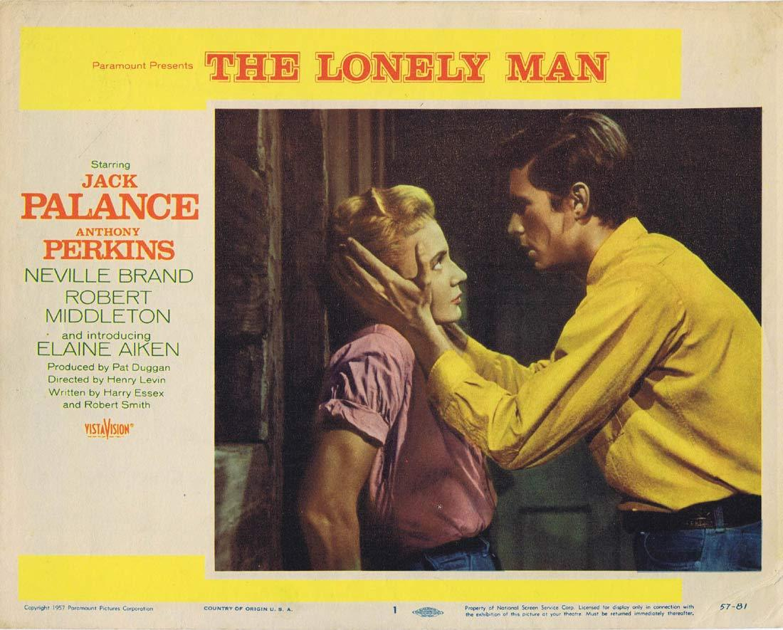THE LONELY MAN Original Lobby Card 1 Jack Palance Anthony Perkins