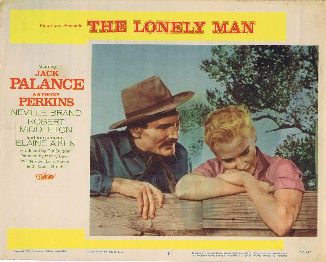 THE LONELY MAN Original Lobby Card 5 Jack Palance Anthony Perkins