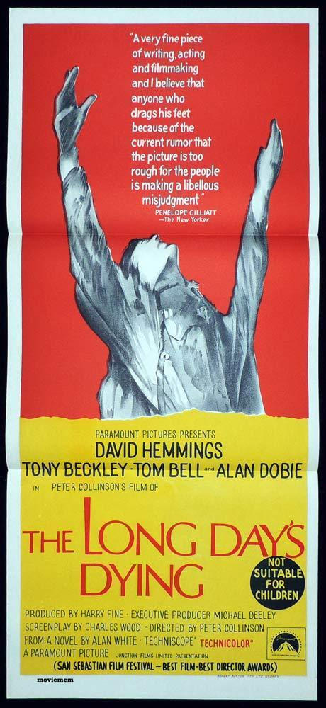 THE LONG DAY'S DYING Original Daybill Movie poster Tom Bell David Hemmings