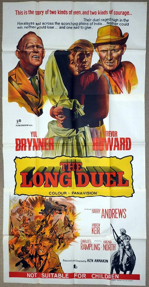 THE LONG DUEL Original 3 Sheet Movie Poster Trevor Howard Yul Brynner