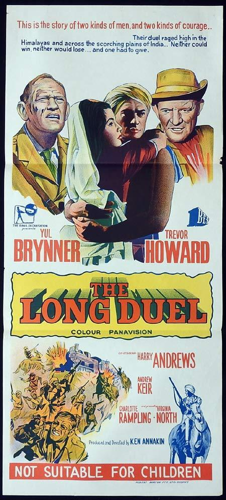 THE LONG DUEL Original Daybill Movie Poster Yul Brynner Trevor Howard