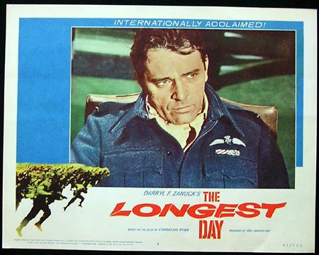 THE LONGEST DAY Lobby Card 2 Richard Burton 1962