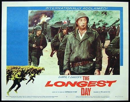THE LONGEST DAY Lobby Card 4 Robert Mitchum 1962
