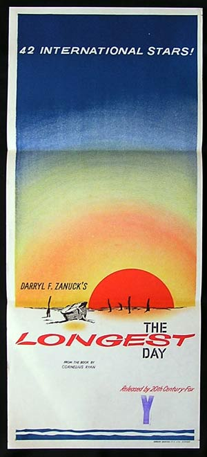THE LONGEST DAY '62-John Wayne daybill poster