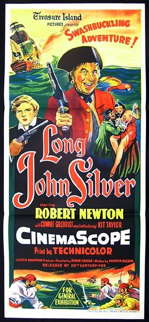 LONG JOHN SILVER Daybill Movie poster Robert Newton 1954