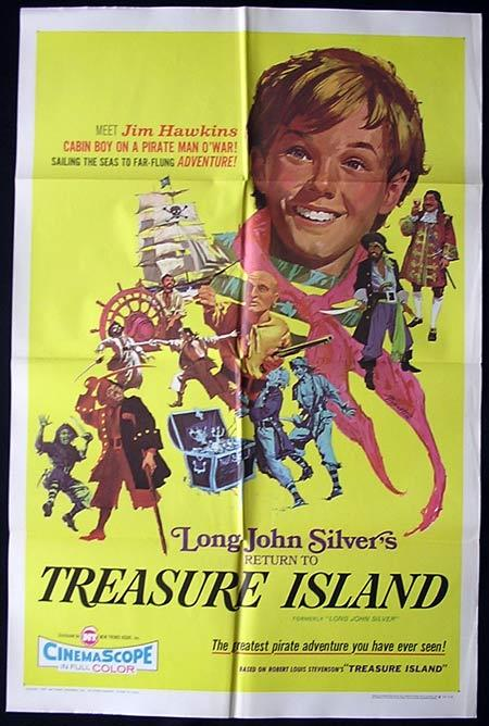LONG JOHN SILVER'S RETURN TO TREASURE ISLAND 1954 US One sheet RARE Movie poster