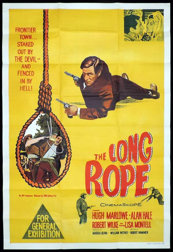 THE LONG ROPE One Sheet Movie Poster Hugh Marlowe