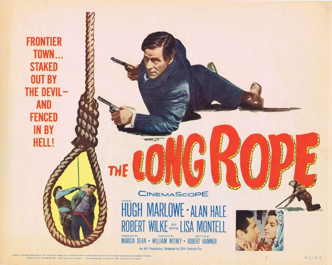 THE LONG ROPE 1961 Hugh Marlowe Title Lobby Card