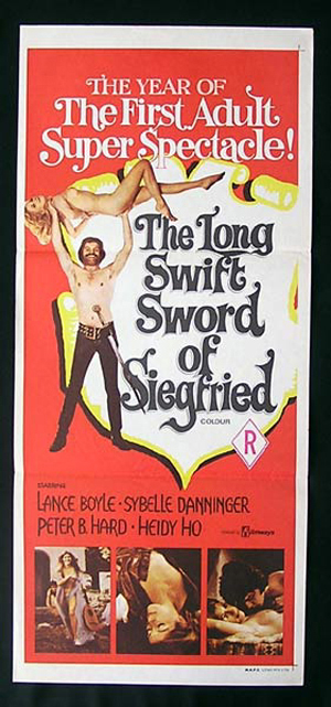 LONG SWIFT SWORD OF SIEGFRIED '71-Lance Boyle daybill