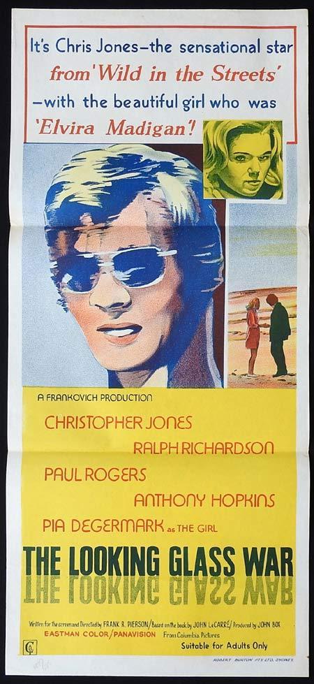 THE LOOKING GLASS WAR Original Daybill Movie Poster Christopher Jones Pia Degermark