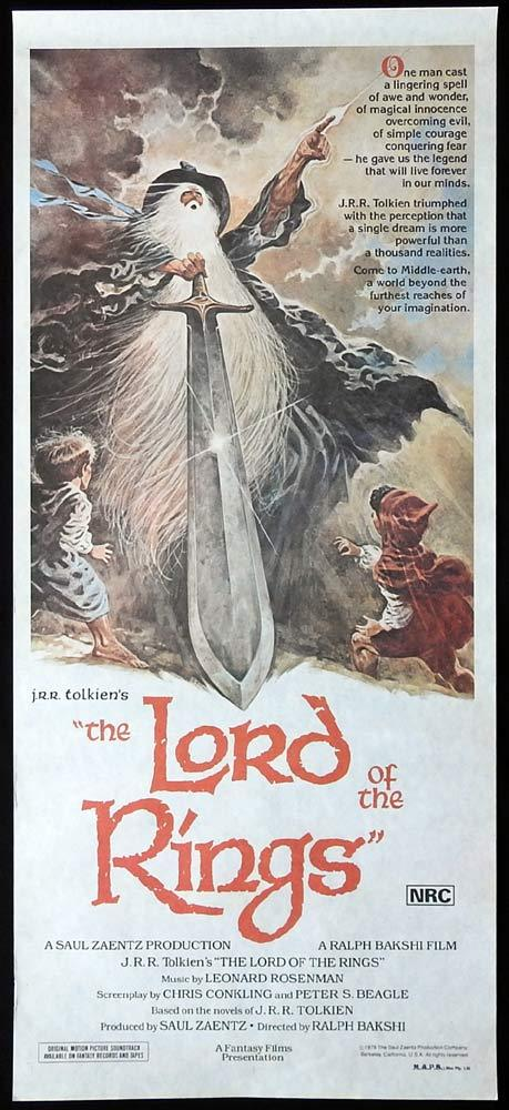 LORD OF THE RINGS Original Daybill Movie Poster Ralph Bakshi