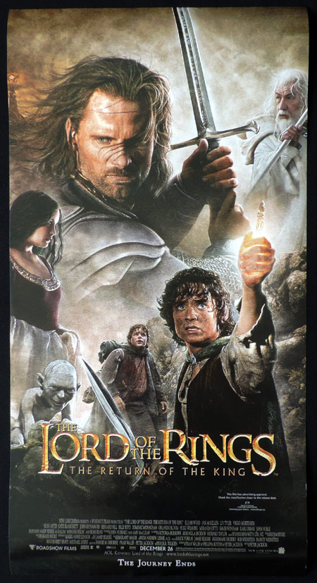 LORD OF THE RINGS RETURN OF THE KING Vintage Australian Daybill Movie Poster
