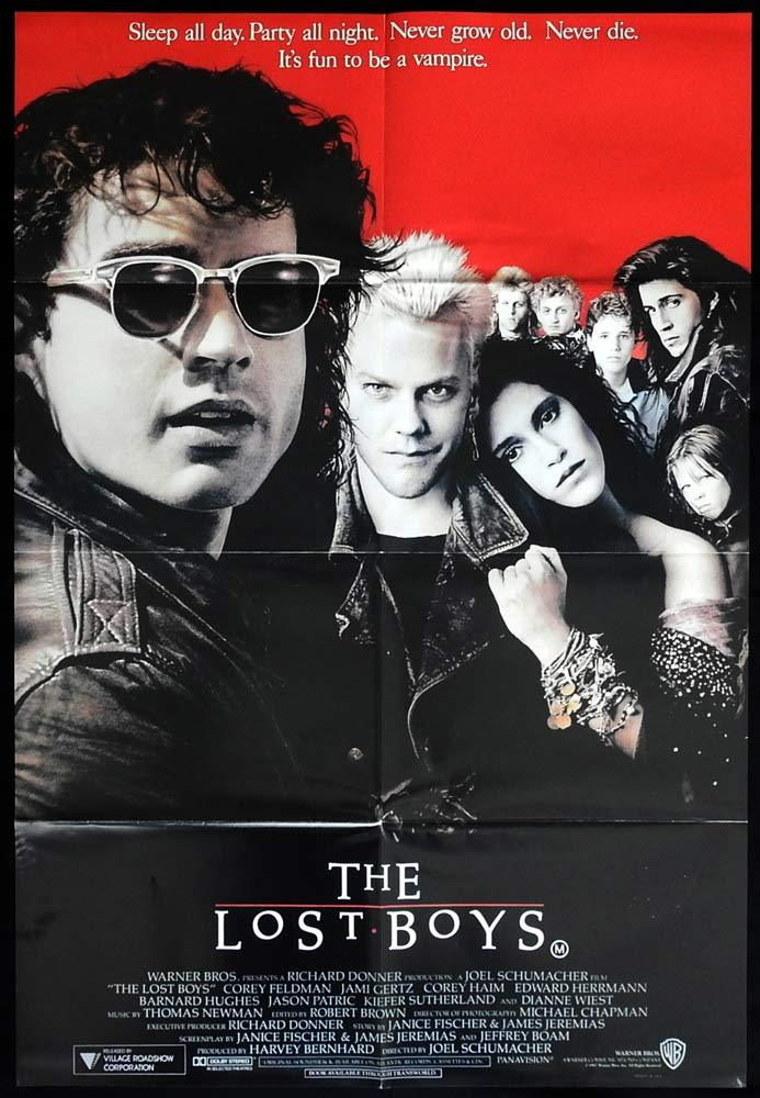 THE LOST BOYS One sheet Movie Poster Keifer Sutherland Vampire