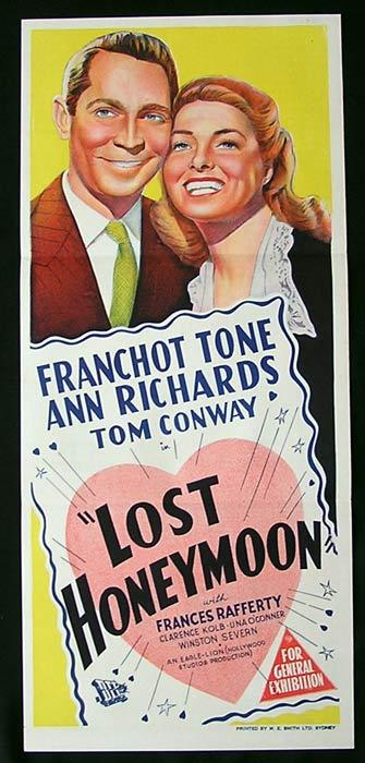 LOST HONEYMOON Daybill Movie Poster Franchot Tone